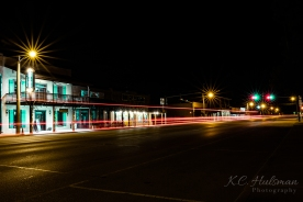 Car Trails of downtown Albany, Texas